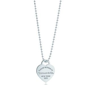 "TIFFANY & CO. Heart Tag Pendant on 34"" Chain"